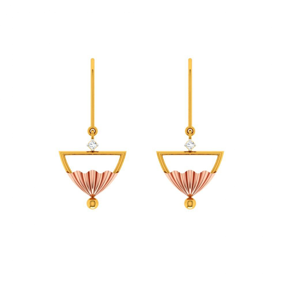 14KT (585) Yellow Gold Earring for Woman