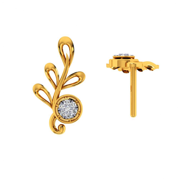18KT (750) Yellow Gold and Diamond Earring for Women