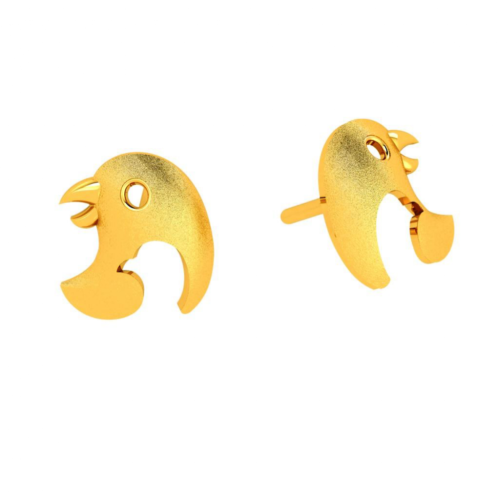 18KT (750) Yellow Gold Earring for Woman