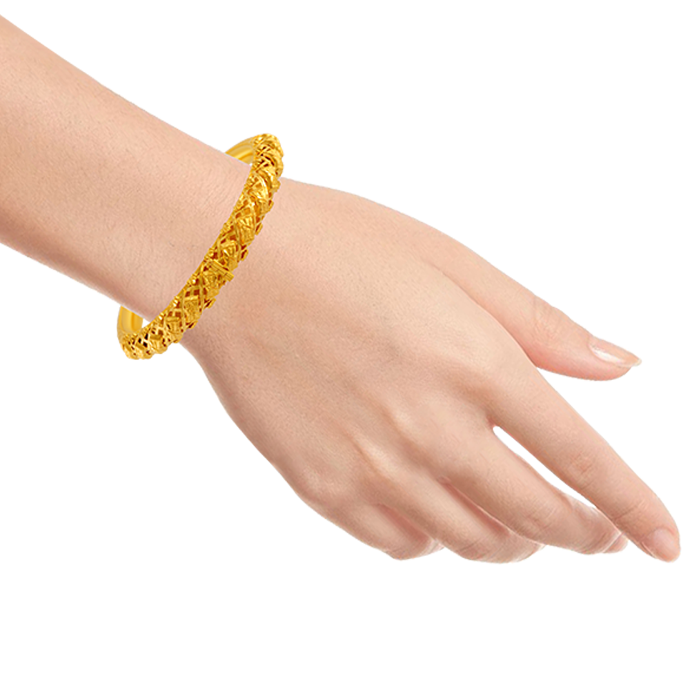 22KT Yellow Gold Bangle for Women
