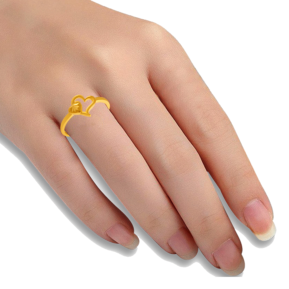 22KT Yellow Gold Ring for Women
