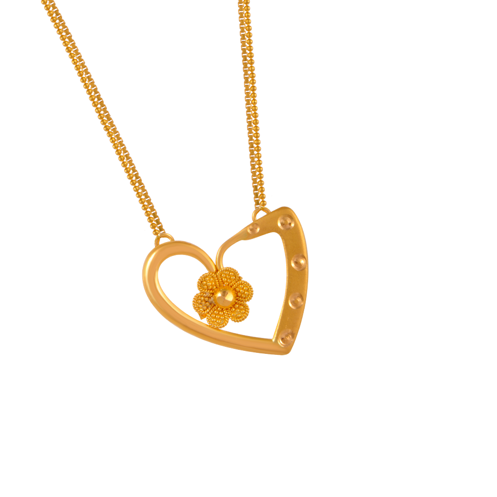 22KT (916) Yellow Gold Gold Chain Pendant for Women