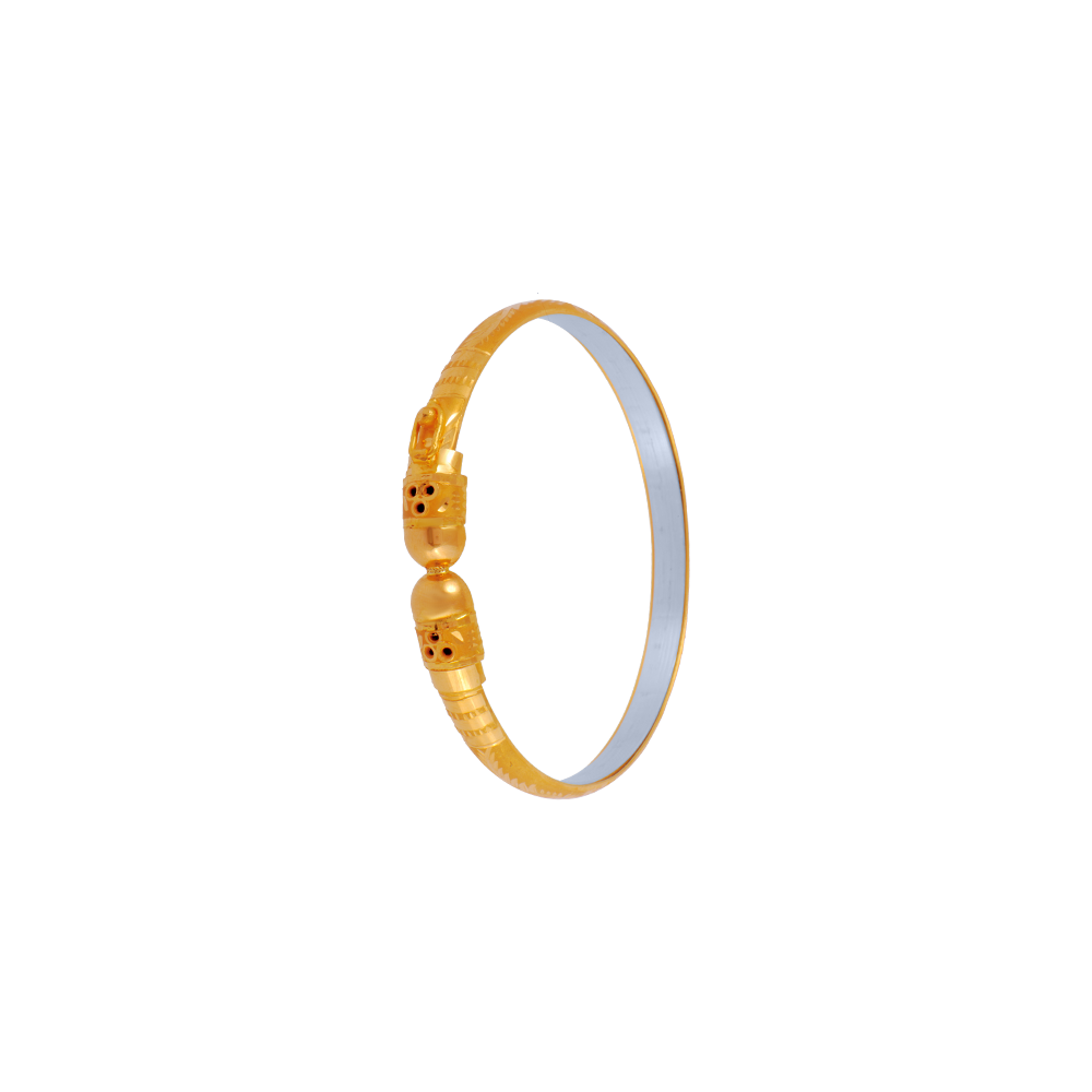 22KT (916) Yellow Gold Gold Bangles for Women