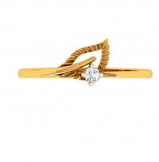 18KT (750) Yellow Gold Diamond Ring for Woman